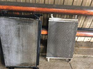Радиатор охлаждения двигателя и кондиционера после промывки