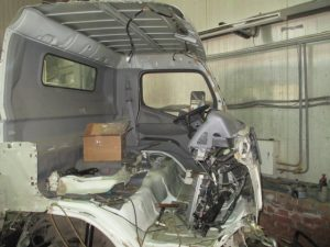 Mitshubishi Fuso Canter ремонт кабины